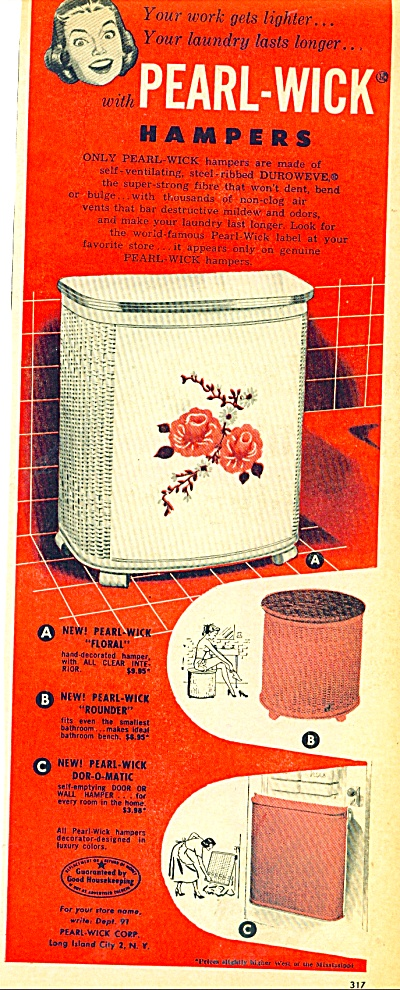 Pearl-wick hampers ad 1950 (Image1)