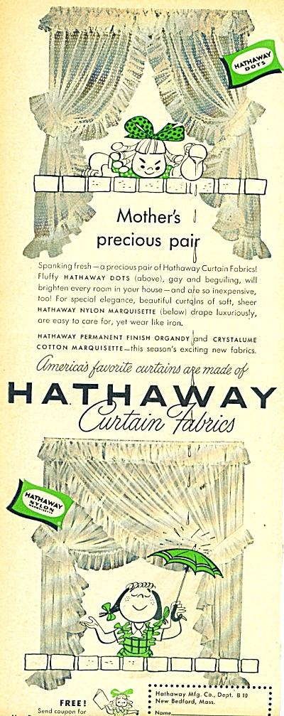 Hathaway curtain fabrics ad 1950 (Image1)