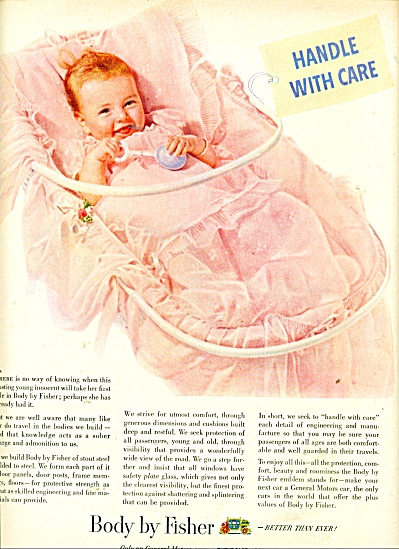 Body by Fisher ad 1950 PRETTY BABY (Image1)