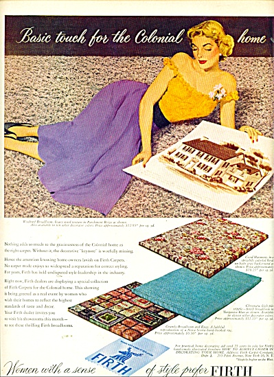 1950 Firth Carpet AD ART by WIRTS (Image1)