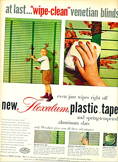 Flexalum plastic tape and aluminum slats ad (Image1)