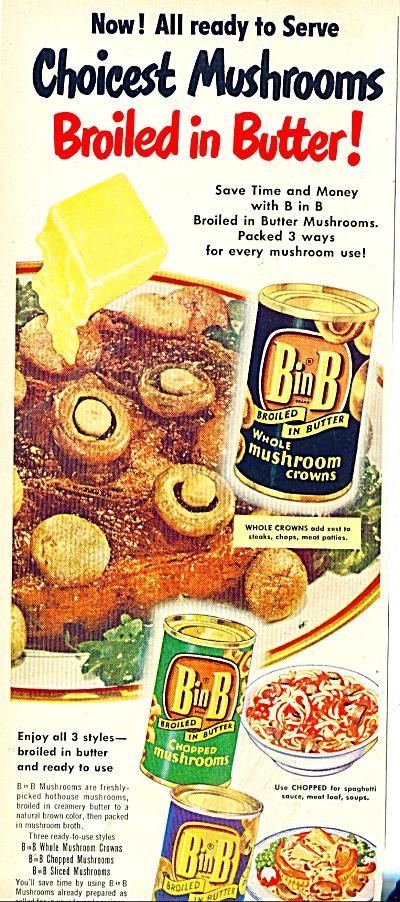 B in B whole mushrooms ad 1950 (Image1)