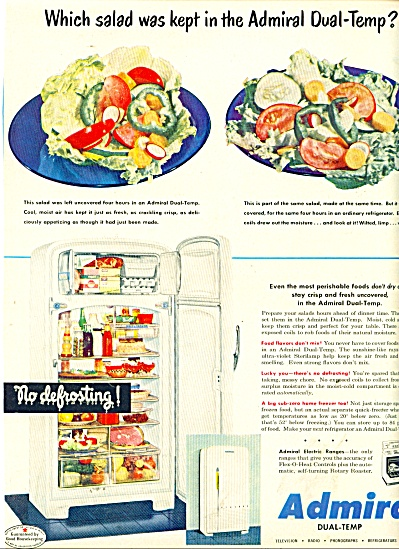 Admiral dual temp refrigerator ad 1950 (Image1)