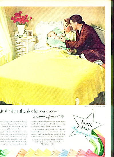 1950 North Star Woolen Mill AD New Baby at HO (Image1)