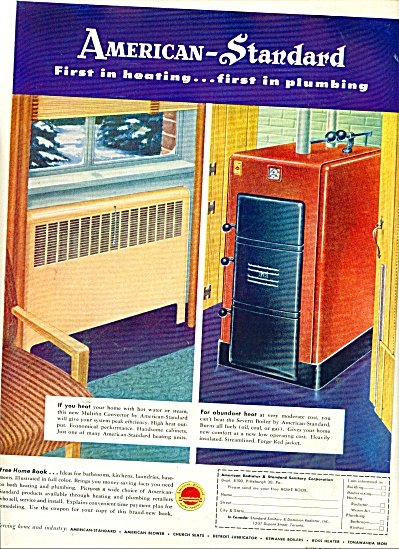 American-Standard heating, plumbing ad 1950 (Image1)