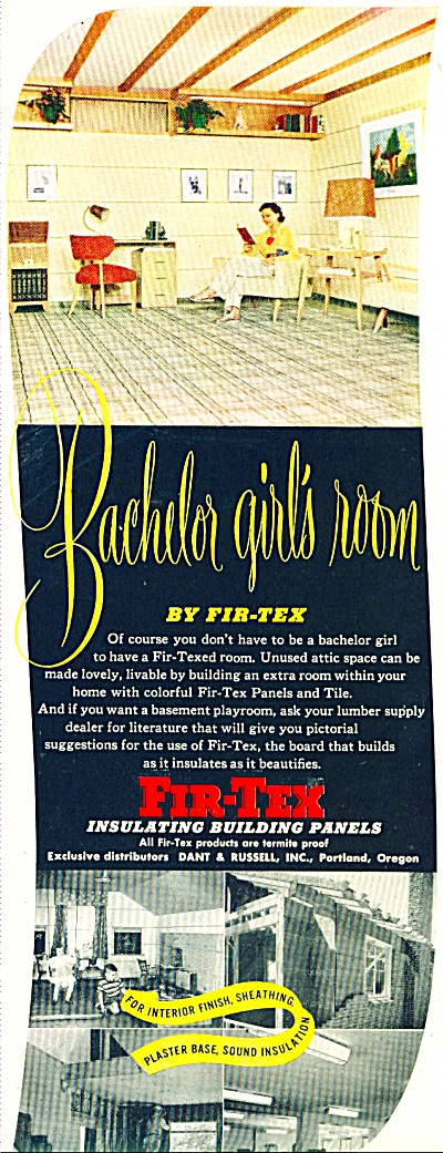 Fir-Tex insulating building p anels ad 1950 (Image1)