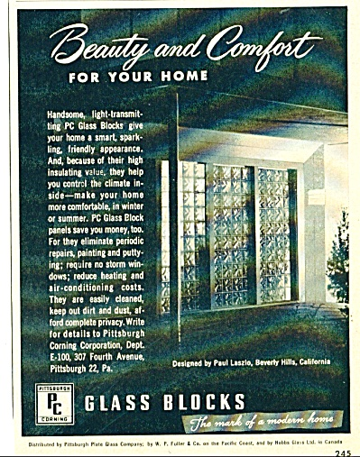 Glass Blocks ad 1950 (Image1)