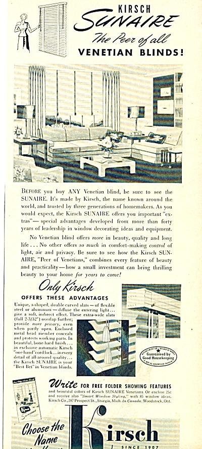 Kirsch venetian blinds ad 1950 (Image1)