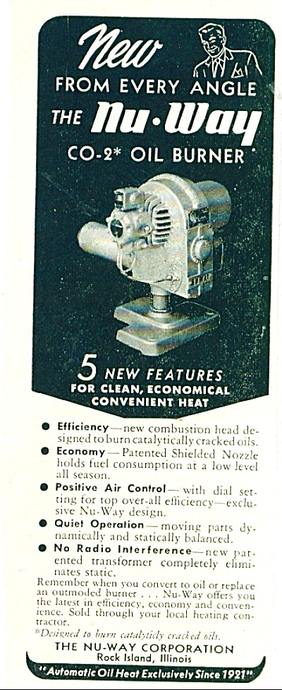 The Nu Way Co-2 oil burner ad 1950 (Image1)