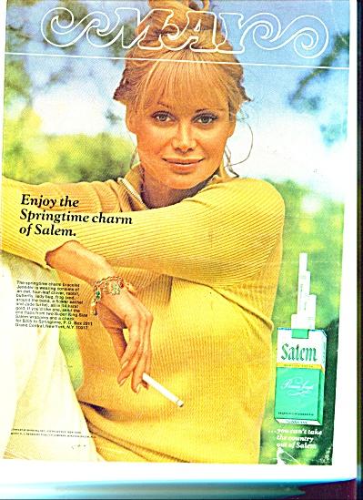 1970 SALEM Cigarettes AD MODEL JENNIFER (Image1)