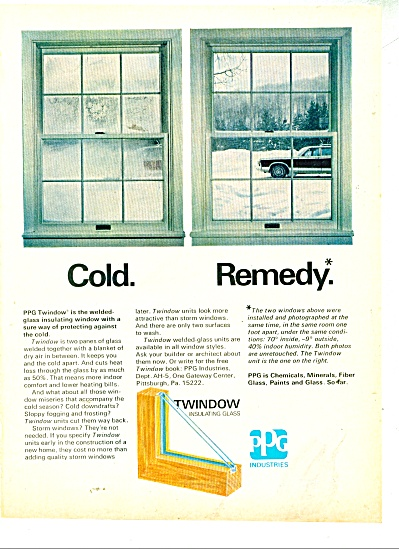 Twindow insulating glass ad 1970 (Image1)