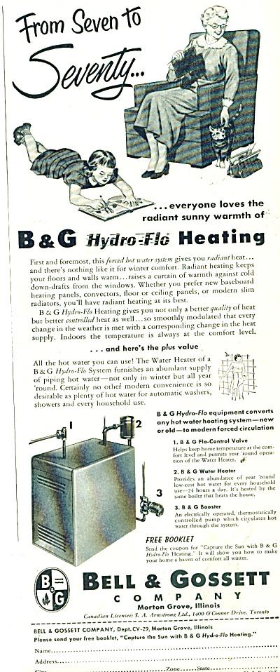 Bell & Gossett Company  Heating ad 1953 (Image1)