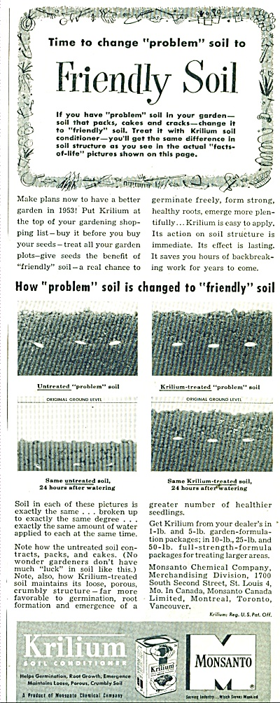 Krilium soil conditioner ad 1950 (Image1)