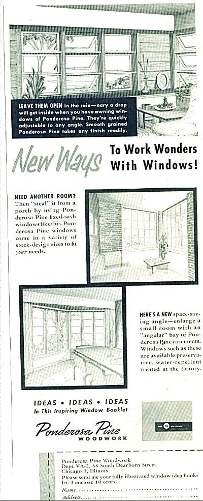 Ponderosa pine woodwork ad 1953 (Image1)