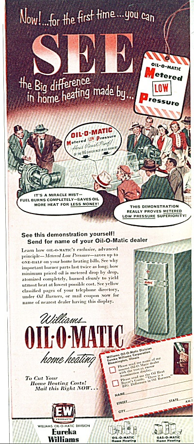 1953 Williams Oil-o-matic home heating AD (Image1)