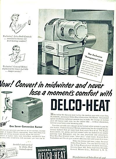 Delco Heat - General Motors ad 1953 (Image1)