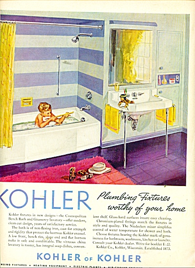 1953 Kohler AD LITTLE BOY in TUB shooting IND (Image1)