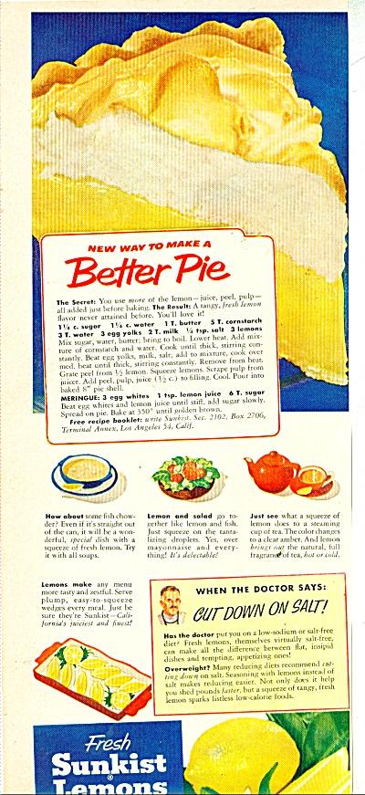 Fresh sunkist lemons ad 1953 (Image1)
