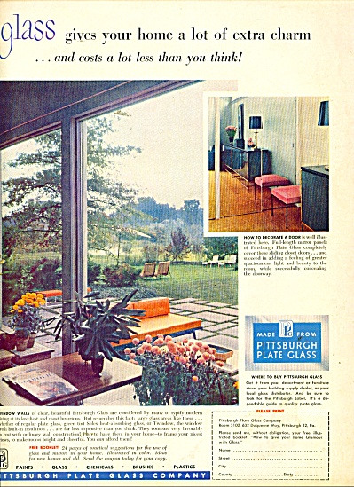Pittsburgh Plate Glass company ad 1953 (Image1)