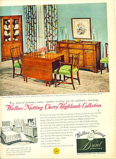 1953 Drexel Furniture Ad Wallace Nutting Cher