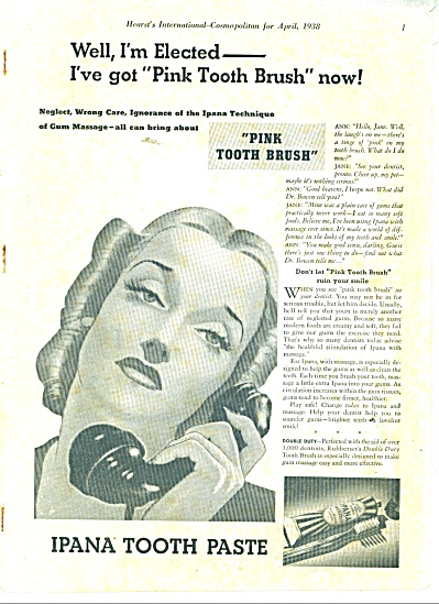 1938 Ipana Tooth Paste AD Awesome Artwork (Image1)