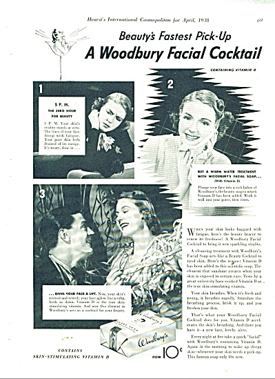 1938 Woodbury Soap AD Beautiful Model PICS (Image1)