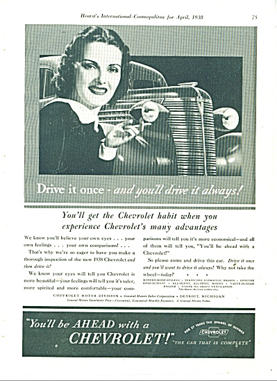 1938 Chevrolet CHEVY Car AD Drive It Once (Image1)