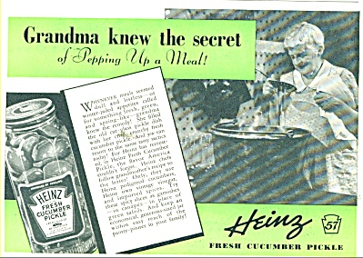 Heinz fresh cucumber pickle ad 1938 (Image1)