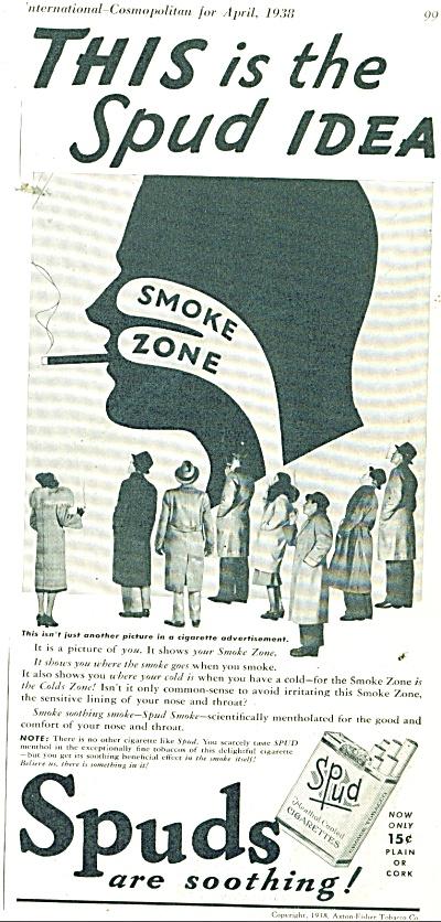 Spuds cigarettes ad 1938 (Image1)