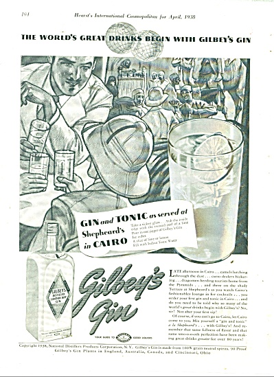 Gilbey's Gin Ad 1938