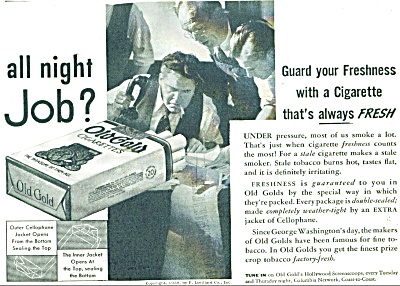 1938 Old Gold Cigarettes ad 1938 (Image1)