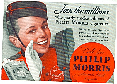 1938 Call for Philip Morris Cigarette AD JOHN (Image1)