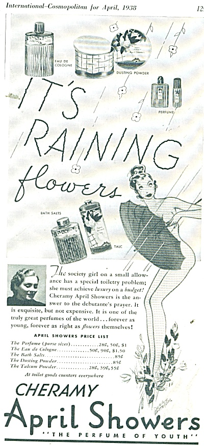 Cheramy April showers perfume ad 1938 (Image1)