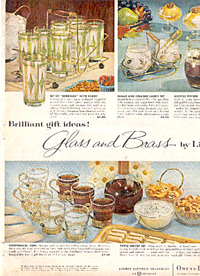 1960 Libbey Emeralds - Continental + Glass Ad