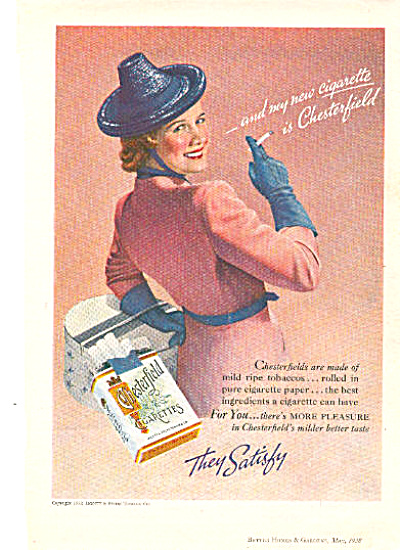 1938 Chesterfield Cigarettes Ad (Image1)