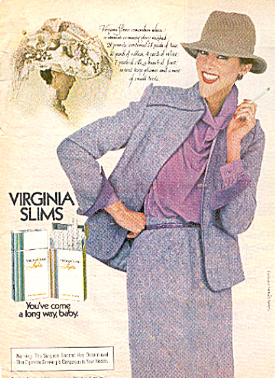 1982 Virginia Slims Lights Cigarette Ad