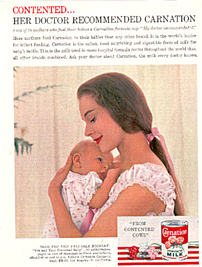 1959 Carnation Evaporated Milk Ad (Image1)