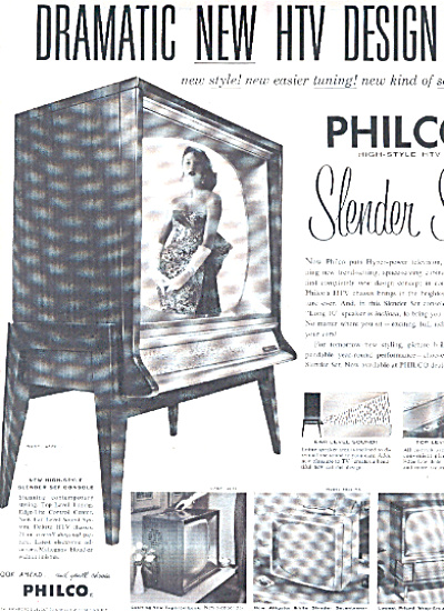1958 Philco TELEVISION high-style tv ad (Image1)