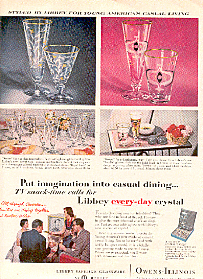 1956 Libbey ROYAL FERN SEVILLE ++ Glass AD (Image1)