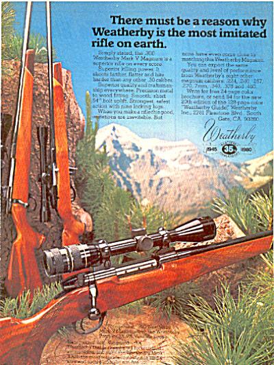 1980 Weatherby Mark V Magnum rifle Ad (Image1)
