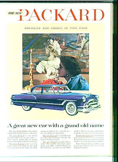 1953 beautiful blue Packard Ad (Image1)