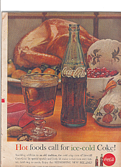 1961 COCA COLA Sparkling ice cold Coke Ad (Image1)