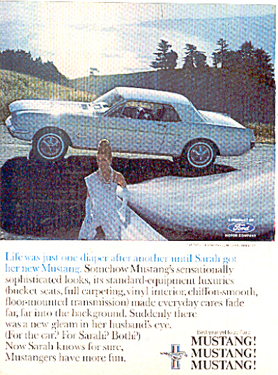 1965 sensationally Ford Mustang Ad (Image1)