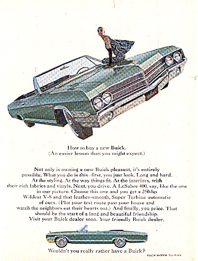 1965 Emerald Green Buick LeSabre 400 Ad (Image1)