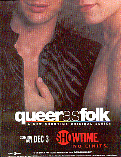 QUEER AS FOLK Original TV SERIES AD (Image1)