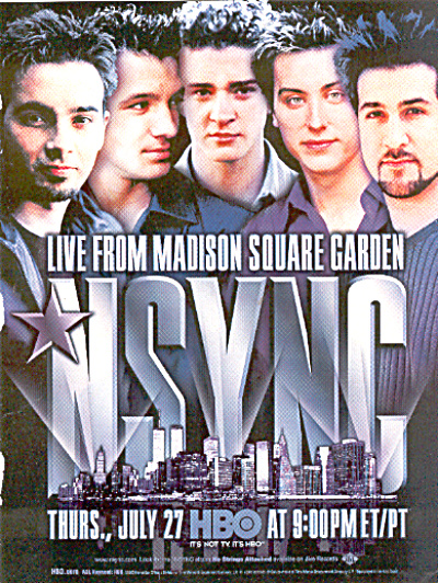 2000 N'SYNC No Strings Attached Concert Ad (Image1)