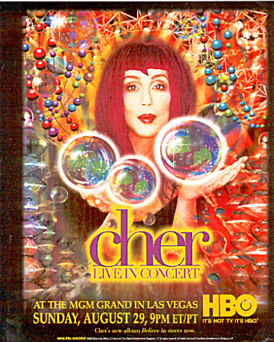 1999 Cher in Concert Believe Ad (Image1)