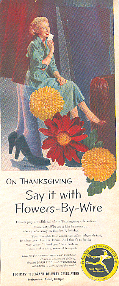 1951 FTD's flowers-by-wire ad (Image1)