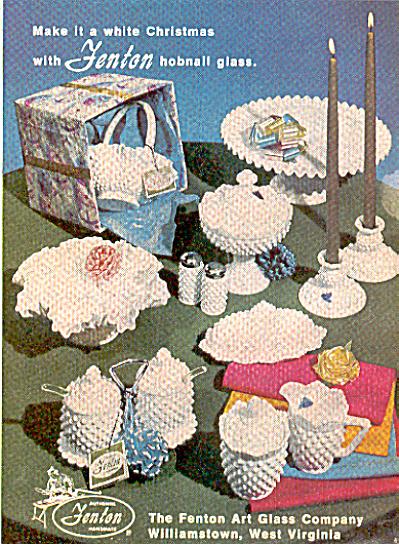 1968 Fenton white hobnail glass ad (Image1)