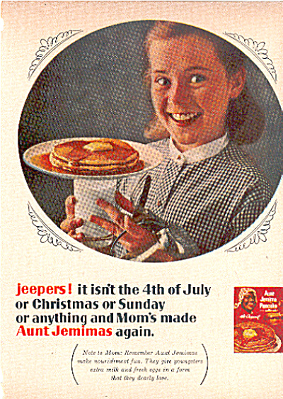 1964 Aunt Jemima Pancakes ad (Image1)